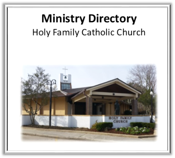 Holy Family Church Ministry Brochure 2017