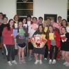 Confirmation class creates Valentine cards for Holy Family Parish shut-ins.